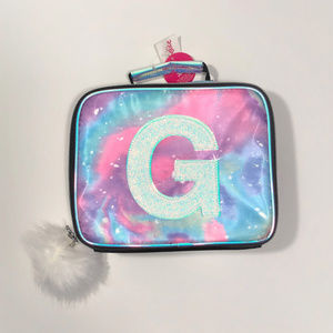 "Justice NEW ""Galaxy"" Lunchbox - Initial ""G"""